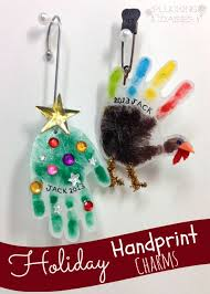 handprint charms plucking daisies