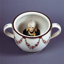 curieux comme un pot de chambre chamber pot with of napoleon britain ca 1805 and who