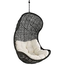 Outdoor Hanging Lounge Chair Amazon Com Lexmod The Parlay Rattan Outdoor Wicker Patio Swing