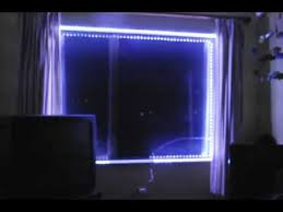 led lights simple installation around a window