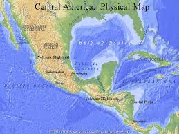 central america physical map middle america f background troubled region of 7 small countries