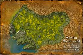 map quests arathi highlands map with locations npcs and quests of