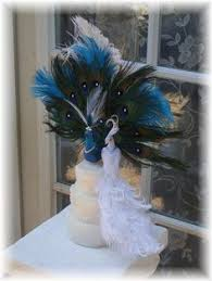 peacock wedding cake topper peacock cake topper exquisite pair custom created with eggplant