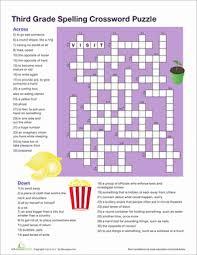 3rd grade vocabulary crossword worksheet education com
