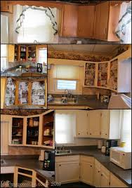 how to update kitchen cabinets without painting kitchen cabinets updated with paint trim my repurposed life