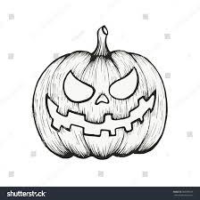 vector hand draw halloween pumpkin stock vector 306098153