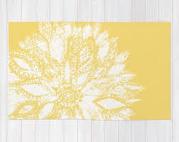 Yellow Area Rug 5x7 by Yellow Rug Etsy