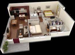 apartment layout ideas 50 3d floor plans lay out designs for 2 bedroom house or apartment