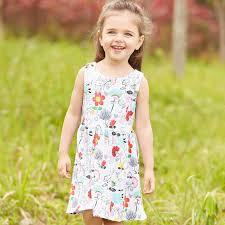 2017 everweekend cute girls summer floral print cotton dress