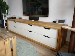 Tv Bench Sideboard Tv Cabinet Long Tv Stand From Ikea Stolmen Ikea Hackers