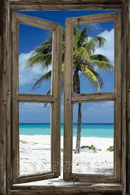1094 best tropical paradise images on pinterest landscapes beach cabin window self adhesive wall mural