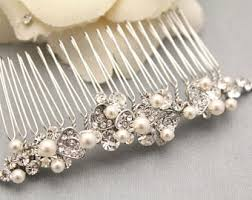 pearl hair comb bridal hair combs etsy