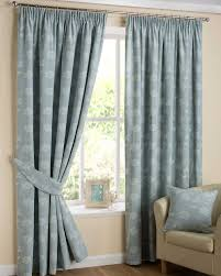 Embroidered Linen Curtains Duck Egg Blue U0027ava U0027 Linen Curtain Pair Tapestry Floral Design