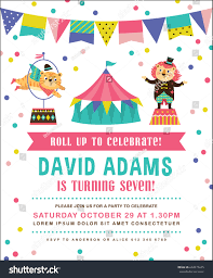 many stock birthday party invitation card vector creation kids birthday party invitation card circus stock vector 632475695