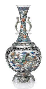 Enamel Vase An Enamelled Silver Vase Christie U0027s Japanese Art Meiji Period