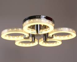 selling modern led acrylic chandelier with 5 lights chrome