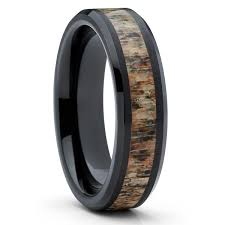 deer antler wedding band deer antler ring tungsten wedding band deer antler wedding