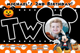 halloween bday party invites 1st birthday halloween invitations disneyforever hd invitation