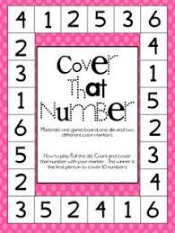 free preschool math game monster dice match preschool math