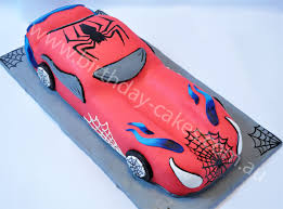spiderman car birthday cake