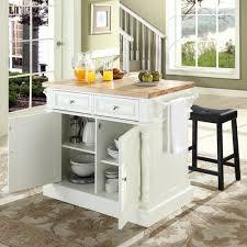 crosley butcher block top kitchen island crosley kf300064wh butcher block top kitchen island in white w 24