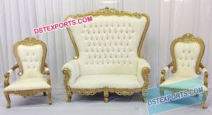 indian wedding chairs for and groom wedding royal golden throne set dstexports wedding