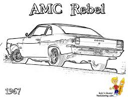 muscle car coloring pages 19067