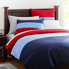 Pb Teen Duvet Nantucket Stripe Duvet Cover Sham Navy Red Pbteen