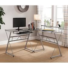 l shaped glass top computer desk