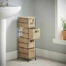 amazon com vonhaus 4 tier small seagrass basket storage tower