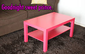 Pink Coffee Table with Mr Handsomeface Blog How Not To Paint Ikea Furniture