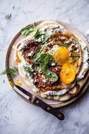 dinner egg recipes turkish fried eggs in herbed yogurt half baked harvest