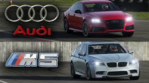 bmw vs audi race bmw m5 vs audi rs7 top gear track battle
