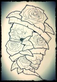 skulls with roses ant by timhag on deviantart