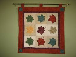 look what i made fall quilted wall hanging