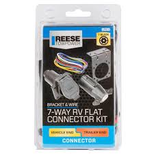 connector 7 way kit with wire 85209 reese towpower