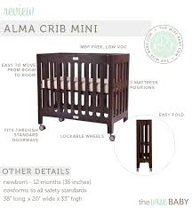 Alma Mini Crib Bloom Alma Mini Crib Review The Wise Baby