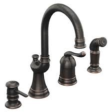 moen showhouse kitchen faucet moen muirfield mediterranean bronze 1 handle high arc kitchen faucet