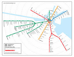 Green Line Metro Map by Boston T Time Stonebrown Design