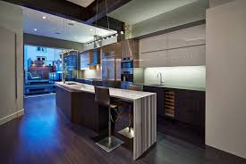 kitchen long kitchen island with bar and oversized sink also dark