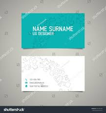 modern simple business card template ux stock vector 216108148