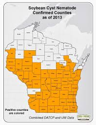 Map Of Wisconsin Counties Wisconsin Soybean Marketing Board Continues Free Nematode Testing