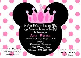 minnie mouse baby shower invitations minnie mouse princess baby shower invitation printable pdf