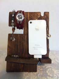 iphone dock iphone charging station iphone by rusticvalleycrafts