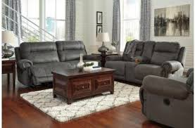 Gray Recliner Sofa Austere Living Room Collection