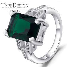 emerald jewelry rings images Hot sale type jewelry emerald ring plated with 925 silver colored jpg