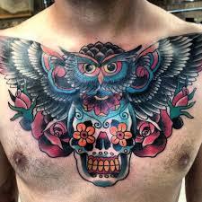 dustin golden owl and skull inspiring ink sugar