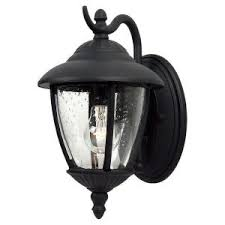 Seagull Lighting Fixtures by Sea Gull Lighting Lambert Hill 1 Light Black Outdoor Wall Fixture