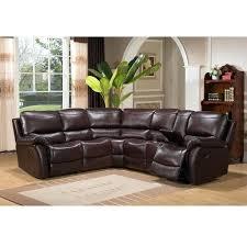 leather reclining sectional romeo italian dark gray leather