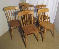 6 victorian beech u0026 elm stick back kitchen chairs antiques atlas